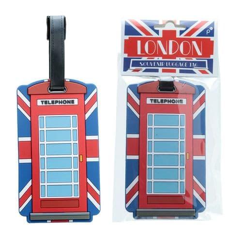 Fun Novelty Union Flag Telephone Box Luggage Tag